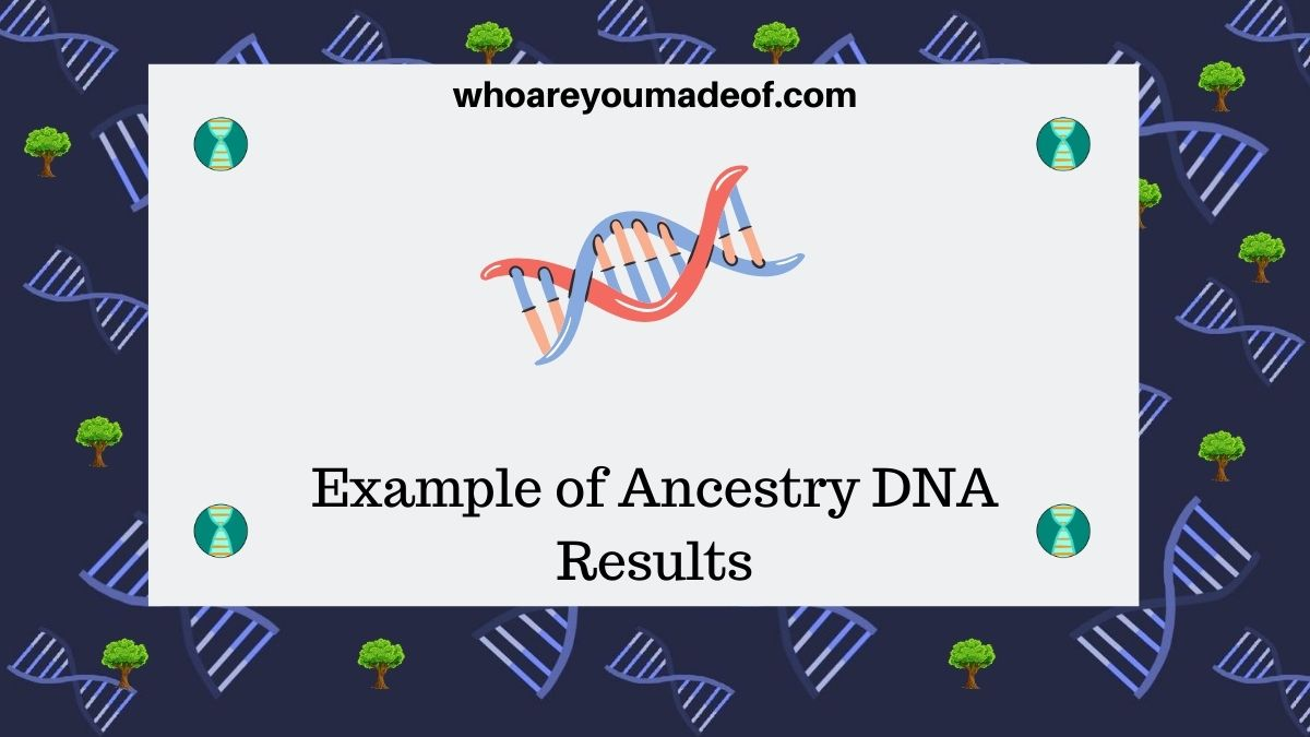 Example of Ancestry DNA Results(1)
