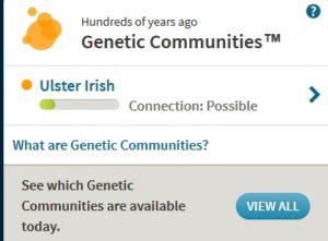 Ulster Irish Genetic Community