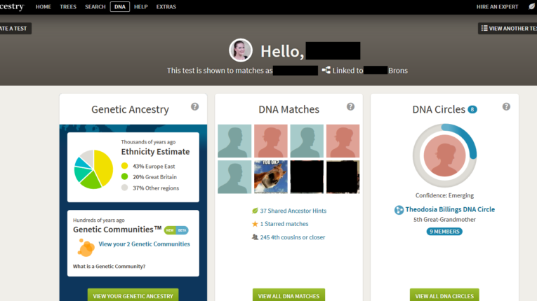 Example of Ancestry DNA Results