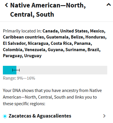 native american ancestry from mexico
