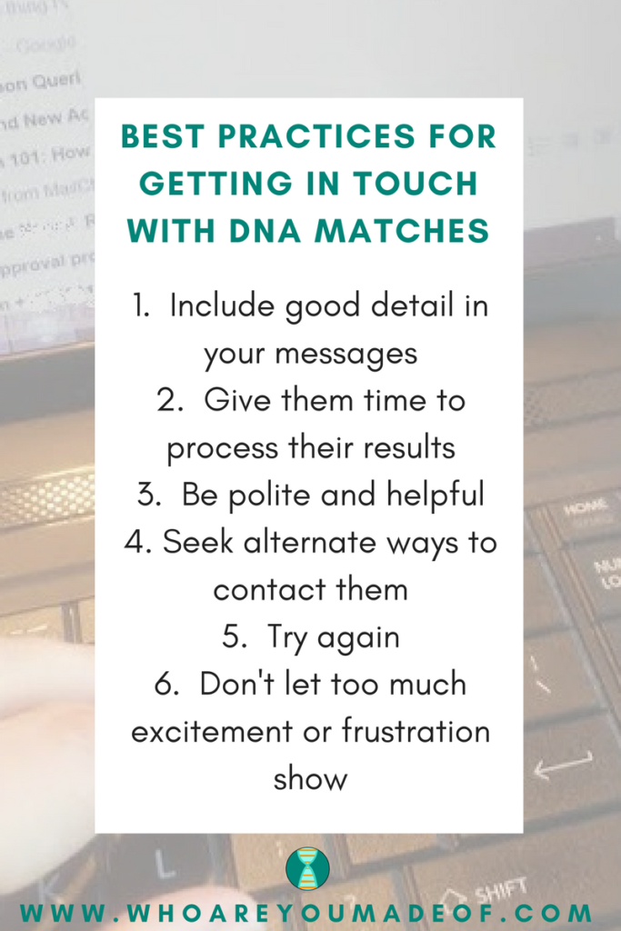 Best Practices for Getting in Touch With DNA Matches