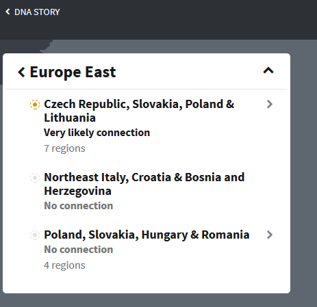 Eastern European Regions on Ancestry DNA