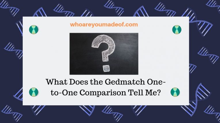 What Does the Gedmatch One-to-One Comparison Tell Me_