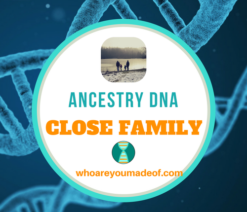 Ancestry DNA Close Family