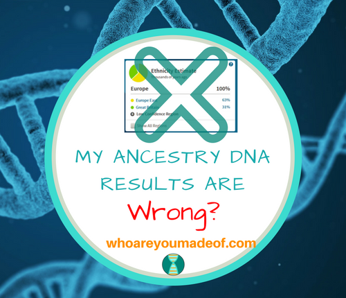 My Ancestry DNA Results Are Wrong