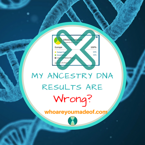 My Ancestry DNA Results Are Wrong?