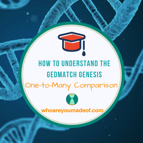 How to Understand the Gedmatch Genesis One-to-Many Comparison