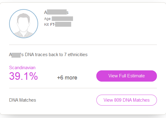 What do my heritage DNA results look like