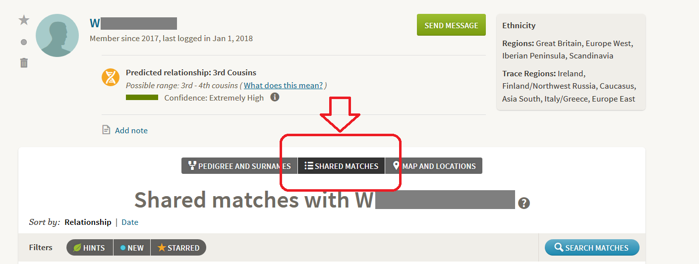 How to access Shared Matches on Ancestry DNA