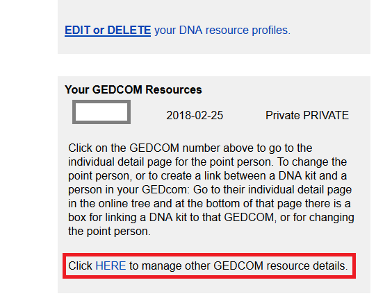 how to delete my gedcom from gedmatch