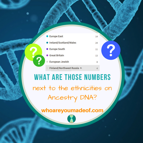 What are those numbers next to the ethnicities on Ancestry DNA?