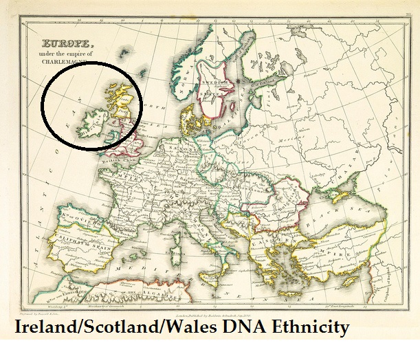 Where is the Ireland/Scotland/Wales DNA Ethnicity