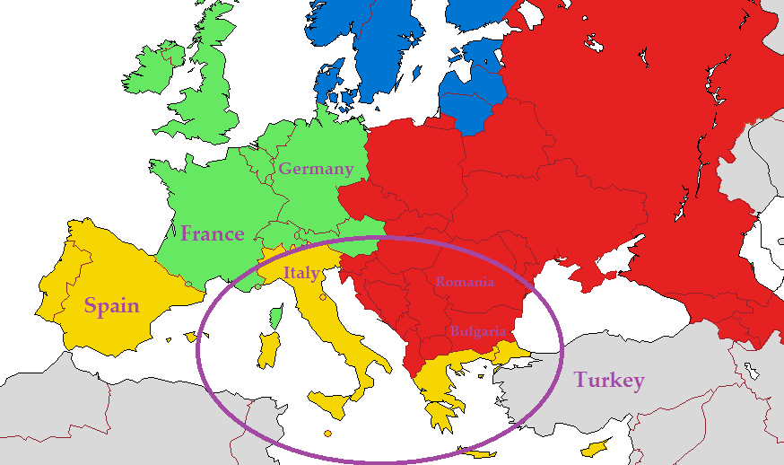 Where is the Europe South DNA Ethnicity located?