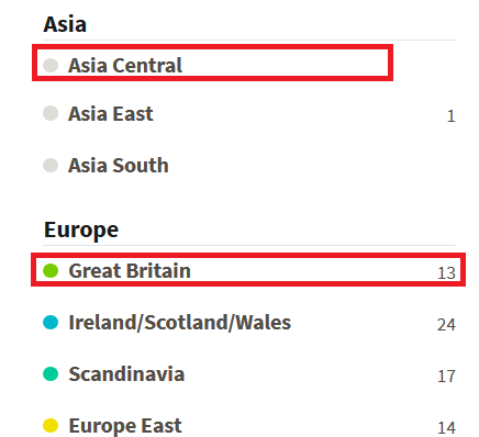 How do I know which ethnicity region pertains to my DNA