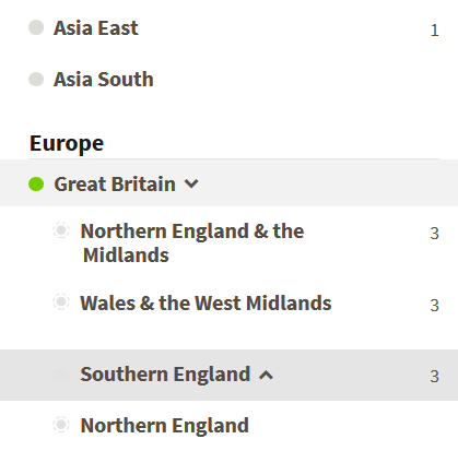 How to access available sub-regions on Ancestry DNA