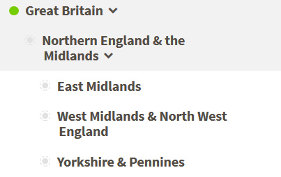 What are those numbers next to the sub-regions on Ancestry DNA