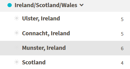What are the Irish and Scottish sub-regions on Ancestry DNA