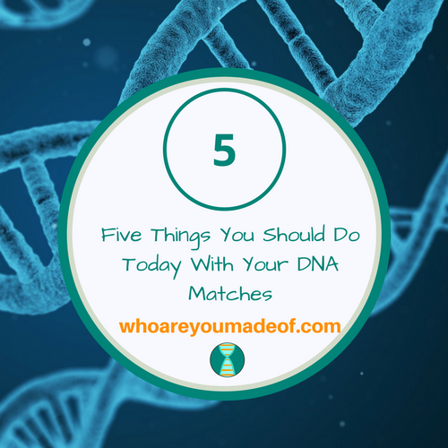 Five Things You Should Do Today With Your DNA Matches