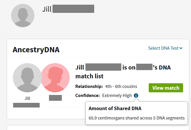 More examples of how two full siblings can share more or less DNA with a DNA match