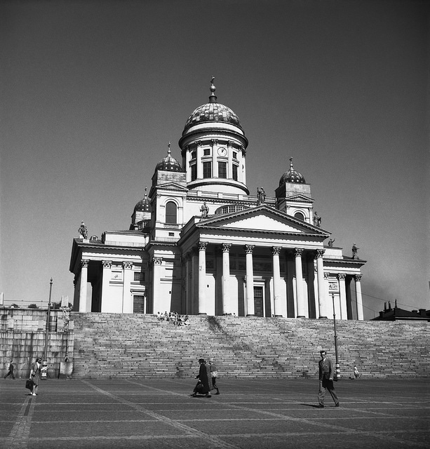 Helsinki Cathedral and Senate Square in August 1947