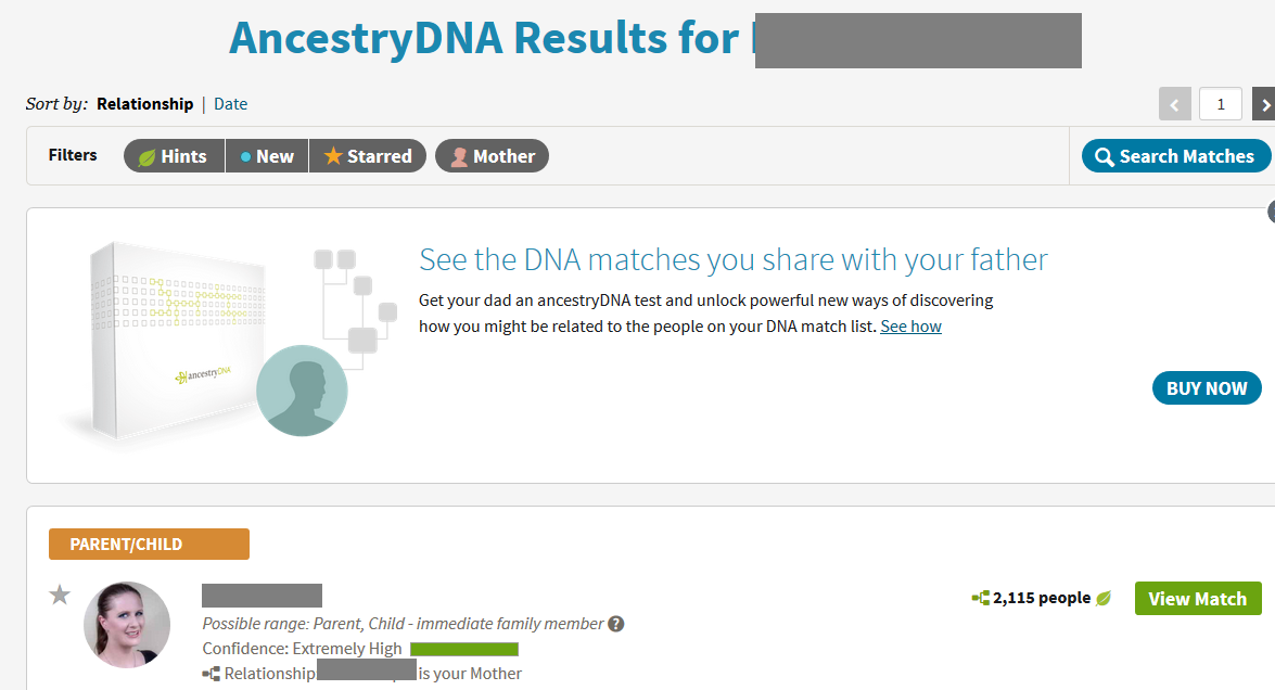 can you still see your dna match list without an ancestry subscription