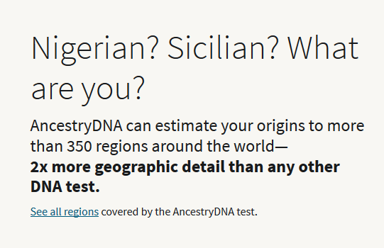 What does Ancestry DNA promise?