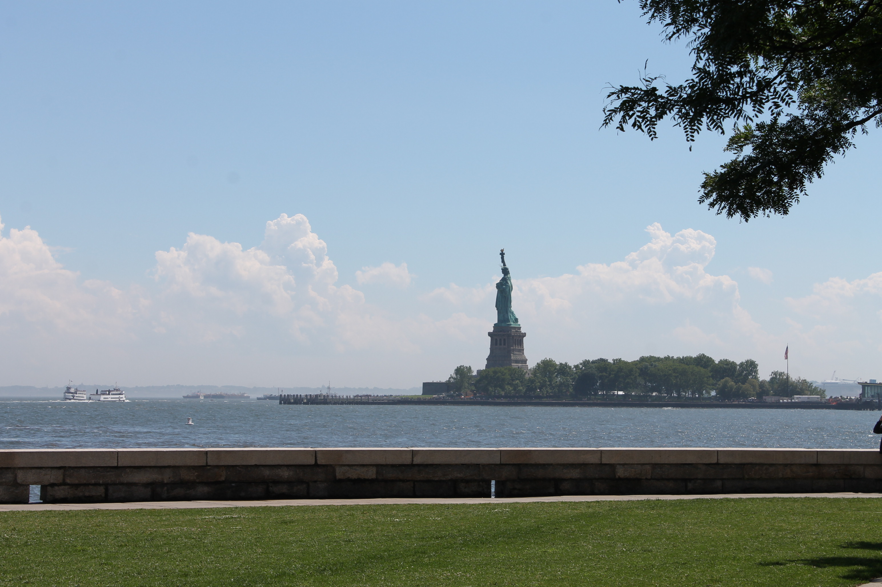 A,mazing view of the Stateu of Liberty from Ellis Island