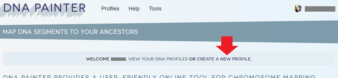 How to create a new profile on DNA Painter