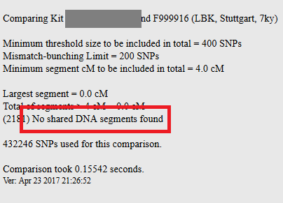 How to interpet a matching segment with an archaic kit on gedmatch