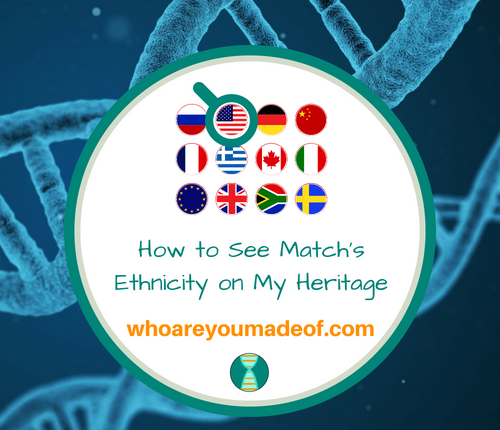 How to See Match's Ethnicity on My Heritage