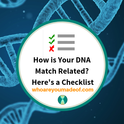 How is Your DNA Match Related?  Here's a Checklist