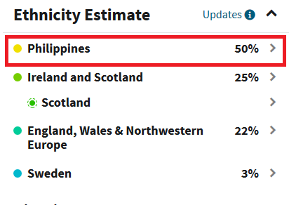 example of filipino ancestry dna results