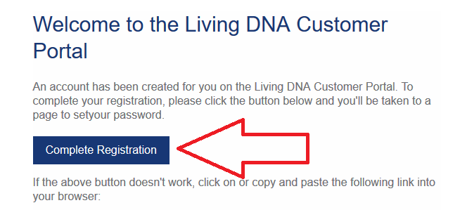 how to complete registration for living dna account