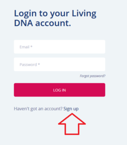 how to login to living dna