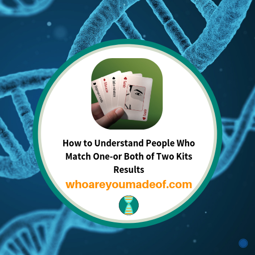 how to understand people who match one or both of two kits results