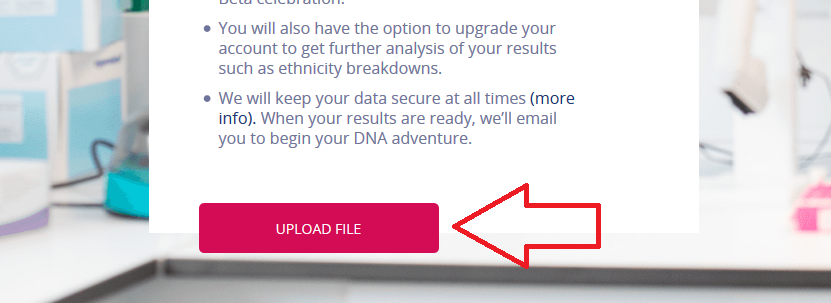 how to upload dna to living dna