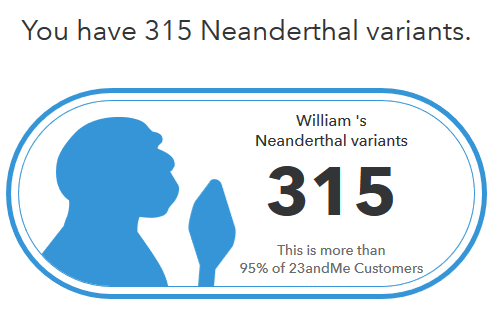 How does neanderthal show up on 23andme