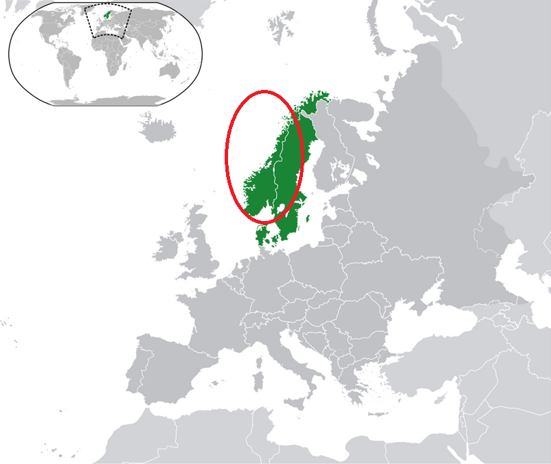 Norway DNA ethnicity region