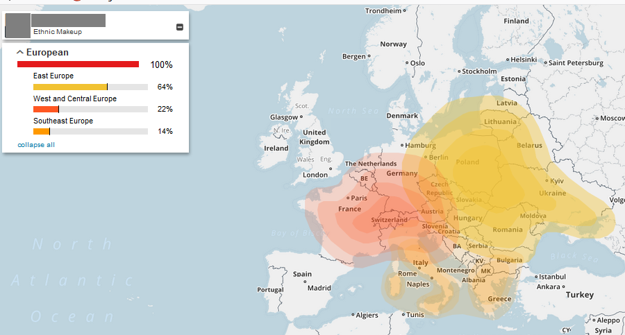 comparison of ethnicity estimate from my heritage to family tree dna