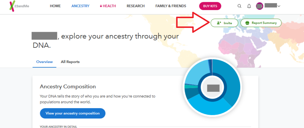 how to share 23andme results