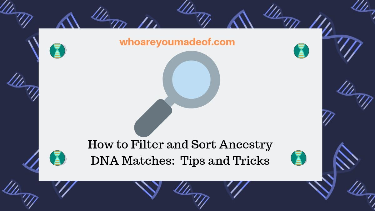 How to Filter and Sort Ancestry DNA Matches:  Tips and Tricks