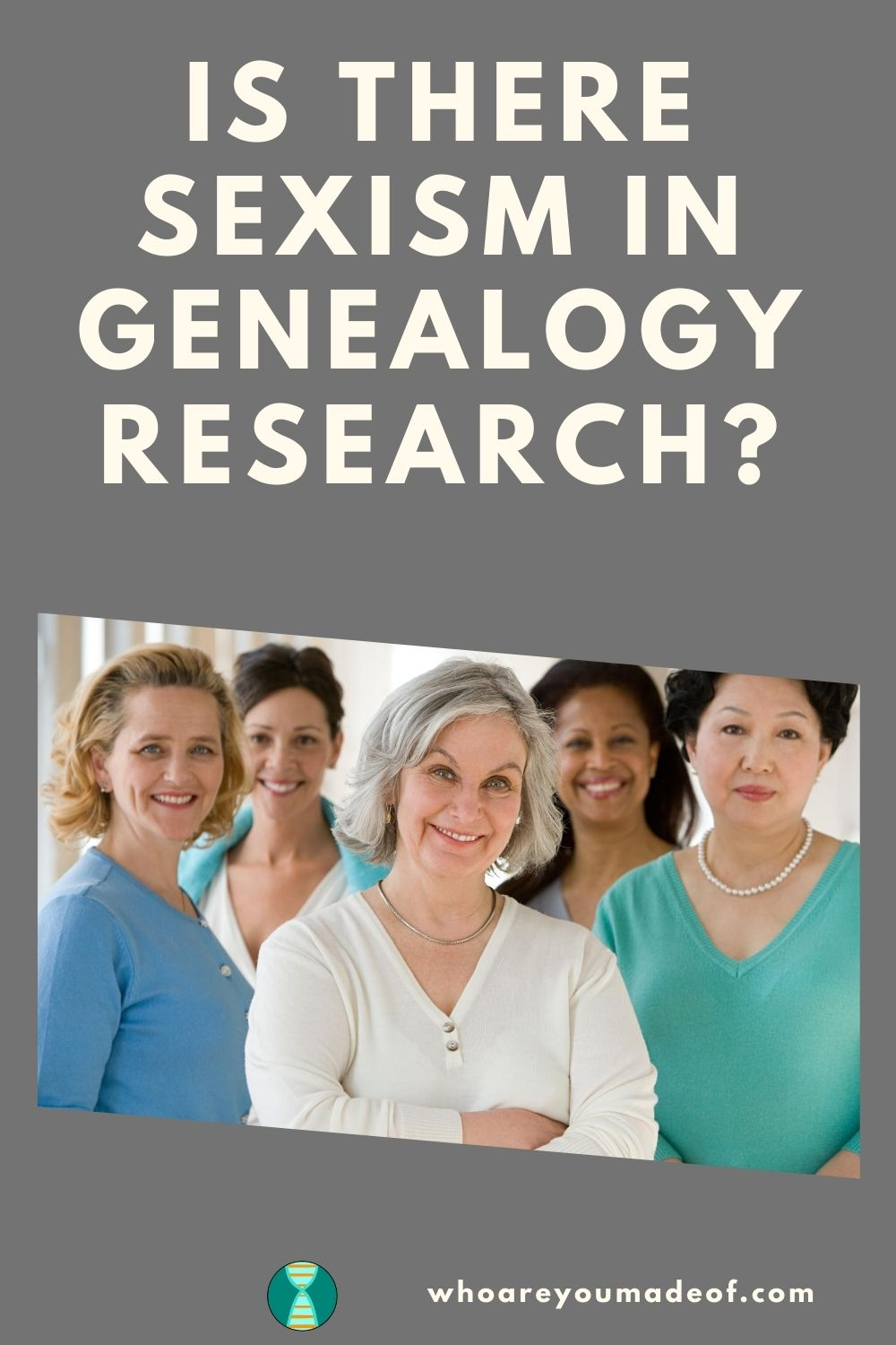Is There Sexism in Genealogy Research Pinterest image with several women