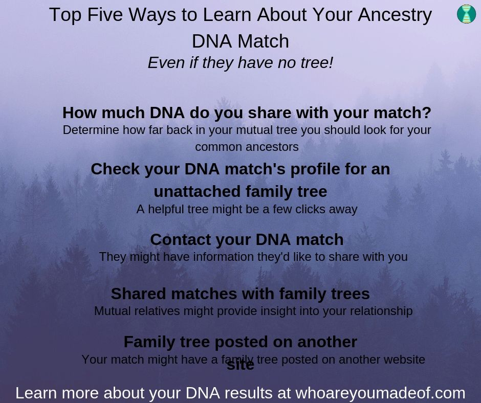 These are the top ways that you can learn how your Ancestry DNA match is related to you
