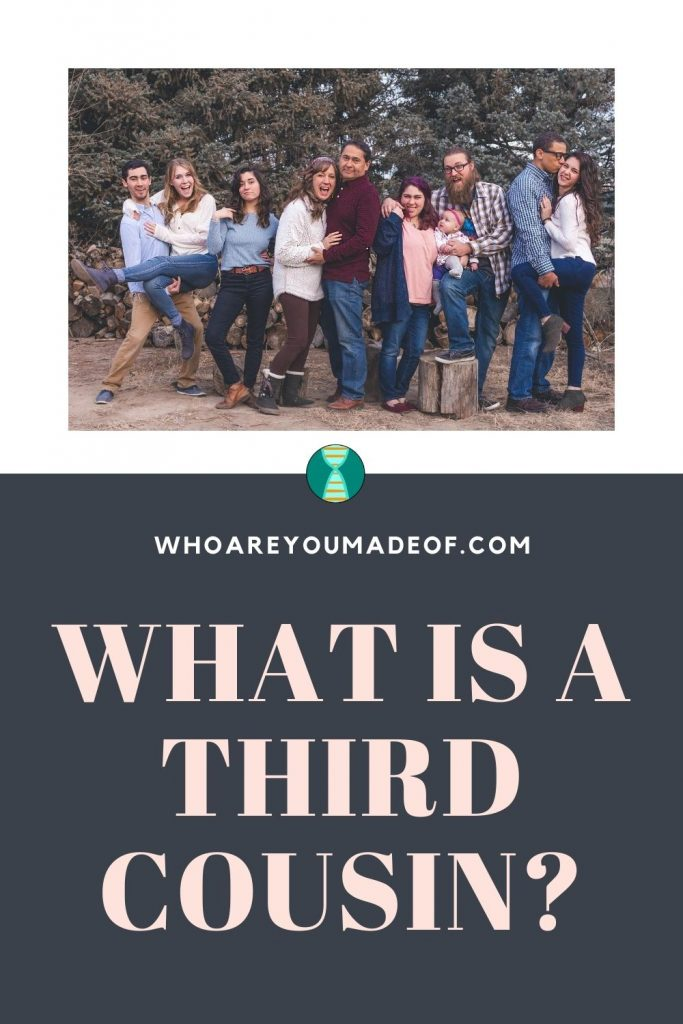 """An image designed for sharing on Pinterest describing the content of this article which is """"What is a Third Cousin"""""""