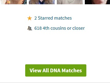 This image shows that I have 618 DNA matches that match me on Ancestry DNA at a 4th cousin level or closer