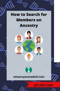 How to Search for Members on Ancestry