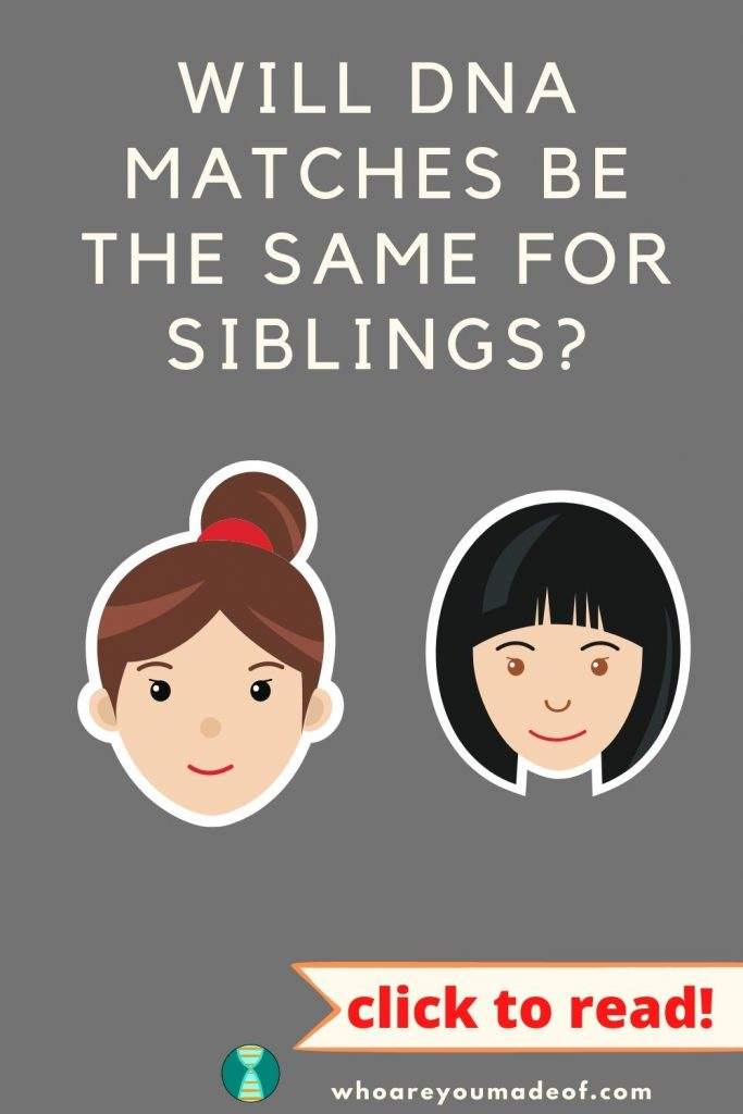 Will DNA Matches Be the Same for Siblings Pinterest Image with graphic of two women (sisters)