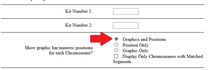 "Choose the ""graphics and position"" setting to display fully identical or half identical regions on the Gedmatch One to One tool (i.e. the chromosome browser)"