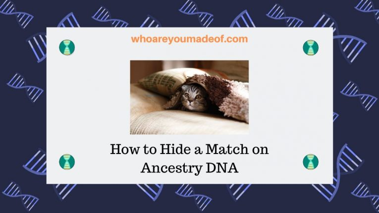 How to Hide a Match on Ancestry DNA