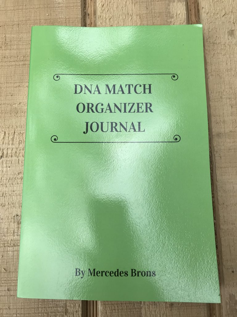Image of the front cover of the DNA Match Organizer Journal